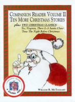 Companion Reader Volume II Ten More Christmas Stories