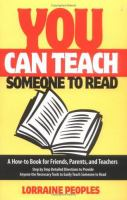 You Can Teach Someone to Read