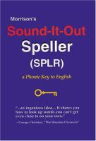 Morrison's Sound-it-out Speller