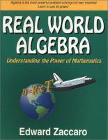 Real World Algebra