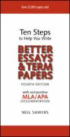 Ten Steps to Help You Write Better Essays & Term Papers