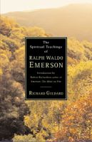 The Spiritual Teachings of Ralph Waldo Emerson