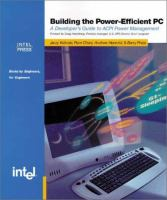 Building the Power-efficient PC