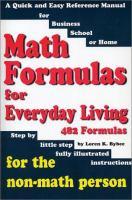 Math Formulas for Everyday Living