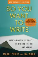 So You Want to Write