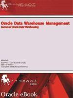 Oracle Data Warehouse Management