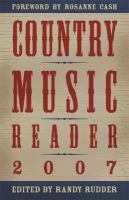 Country Music Reader 2007