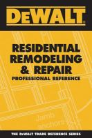 Residential Remodeling & Repair Professional Reference