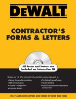 DeWalt Contractor's Forms & Letters