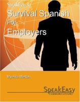 SpeakEasy's Survival Spanish for Employers