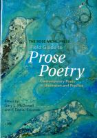 Field Guide to Prose Poetry