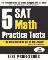5 SAT Math Practice Tests