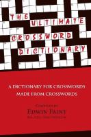 The Ultimate Crossword Dictionary