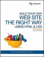 Build your Own Web Site the Right Way Using HTML & CSS