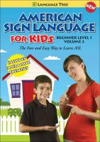 American Sign Language for Kids