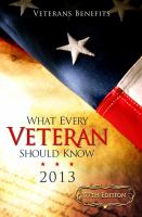 What Every Veteran Should Know 2013