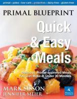 Primal Blueprint Quick & Easy Meals