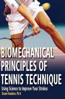 Biomechanical Principles of Tennis Technique