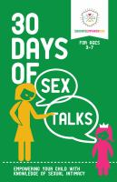 30 Days of Sex Talks, for 3-7 Year-olds