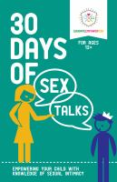 30 Days of Sex Talks, for Ages 12+