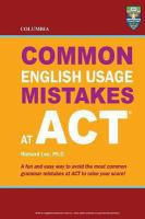 Common English Usage Mistakes at ACT