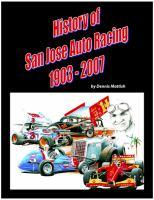 History of San Jose Auto Racing, 1903-2007