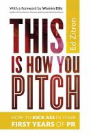This Is How You Pitch