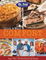 Quick & Easy Comfort Cookbook