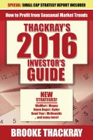 Thackray's 2016 Investor's Guide