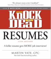 Knock Em Dead Resumes 11th Edition