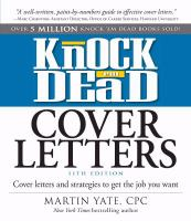 Knock Em Dead Cover Letters 11th Edition