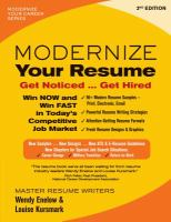 Modernize your Resume: Get Noticed ... Get Hired