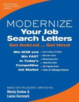 Modernize your Job Search Letters