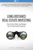Long-distance Real Estate Investing