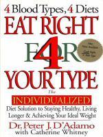 Eat Right 4 (for) your Type