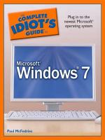 The Complete Idiot's Guide to Microsoft Windows 7