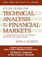 Study Guide for Technical Analysis of the Financial Markets