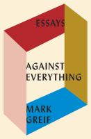Against Everything