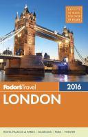 Fodor's 2016 London