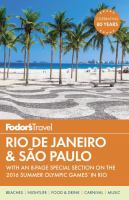 Fodor's Rio De Janeiro & São Paulo