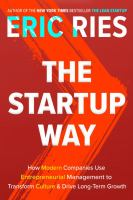 STARTUP WAY : MAKING ENTREPRENEURSHIP A FUNDAMENTAL DISCIPLINE OF EVERY ENTERPRISE
