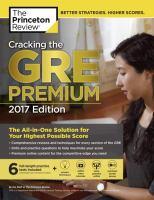 Cracking the GRE Premium