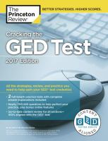 Cracking The GED Test With 2 Practice Tests, 2017 Edition