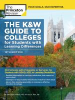 The K & W Guide to College Programs & Services for Students With Learning Disabilities or Attention Deficit Hyperactivity Disorder