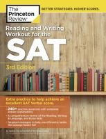 The Princeton Review Reading and Writing Workout for the SAT