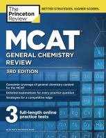 MCAT General Chemistry Review