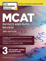 MCAT® Physics and Math Review