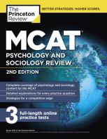 MCAT® Psychology and Sociology Review