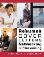 Résumés, Cover Letters, Networking, & Interviewing
