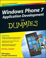 Windows Phone 7 Application Development for Dummies